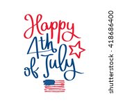 happy 4th of july. the trend... | Shutterstock .eps vector #418686400