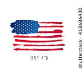 american flag. 4th of july. the ... | Shutterstock .eps vector #418686430