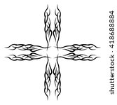 tattoo tribal vector design... | Shutterstock .eps vector #418688884