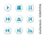 media player blue gradient...