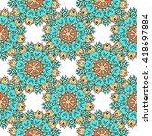 seamless pattern. vintage... | Shutterstock .eps vector #418697884