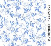leaf illustration pattern | Shutterstock .eps vector #418697929
