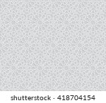 islamic pattern. seamless... | Shutterstock .eps vector #418704154