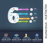 number 6 infographics design... | Shutterstock .eps vector #418706704