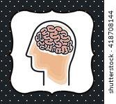 brain storm design | Shutterstock .eps vector #418708144