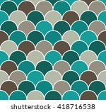 abstract colorful scallop... | Shutterstock .eps vector #418716538