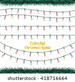 colorful christmas lights | Shutterstock .eps vector #418716664