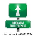 innovative entrepreneur street... | Shutterstock . vector #418722754