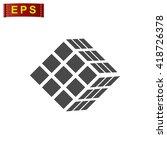 cube icon  vector cube logo ... | Shutterstock .eps vector #418726378