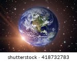 solar system   planet earth.... | Shutterstock . vector #418732783