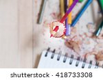 put your pencil  the... | Shutterstock . vector #418733308