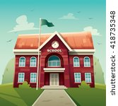 school building. education. | Shutterstock .eps vector #418735348