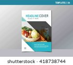 flyer leaflet brochure template ... | Shutterstock .eps vector #418738744