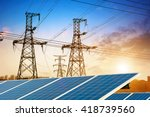 solar panel with high voltage... | Shutterstock . vector #418739560