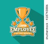 employee of the month trophy... | Shutterstock . vector #418743886