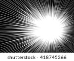 comic radial lines background... | Shutterstock .eps vector #418745266