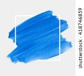 logo art brush paint vector.... | Shutterstock .eps vector #418746859