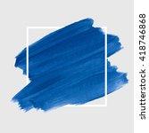 logo art brush paint vector.... | Shutterstock .eps vector #418746868