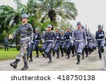 Small photo of Bangkok ,Thailand : 17 January 2014 ; The air cadet were preparing for the marching in Thai armed force day.