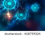 backdrop design of sacred... | Shutterstock . vector #418759324