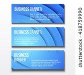 set of three horizontal... | Shutterstock .eps vector #418759990