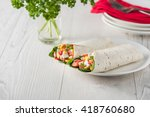 vegan tofu wraps with pepper ...
