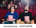 friends at the cinema | Shutterstock . vector #418762048