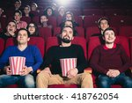 friends at the cinema | Shutterstock . vector #418762054