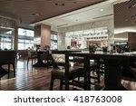 restaurant interior  part of... | Shutterstock . vector #418763008