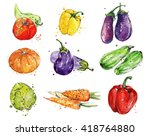 watercolor illustration of the... | Shutterstock . vector #418764880