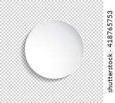 vector round plate... | Shutterstock .eps vector #418765753