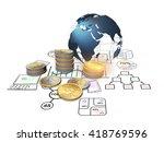 3d rendering  the global... | Shutterstock . vector #418769596