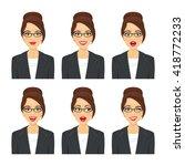 business woman face. various... | Shutterstock .eps vector #418772233