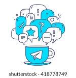 vector illustration of blue...   Shutterstock .eps vector #418778749