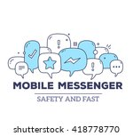 vector illustration of blue... | Shutterstock .eps vector #418778770