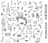 hand drawn doodles of... | Shutterstock .eps vector #418783168