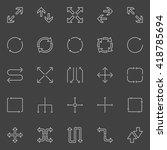 vector arrows icons   minimal...