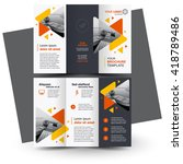 brochure design  geometric... | Shutterstock .eps vector #418789486
