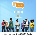 discuss forum chat group topic... | Shutterstock . vector #418792444