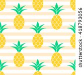 summer pastel pineapple... | Shutterstock .eps vector #418793056
