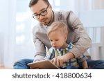 family  childhood  fatherhood ...   Shutterstock . vector #418800634