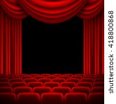 an auditorium with a seating... | Shutterstock .eps vector #418800868