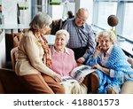 gathering of senior friends | Shutterstock . vector #418801573