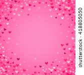 romantic pink heart background. ... | Shutterstock . vector #418805050