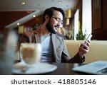 man with cellphone | Shutterstock . vector #418805146