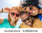 best friends having fun with... | Shutterstock . vector #418808146