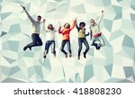 people  freedom  happiness and... | Shutterstock . vector #418808230