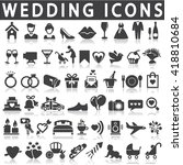 wedding icons | Shutterstock .eps vector #418810684