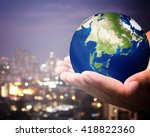the world is on hold for the... | Shutterstock . vector #418822360