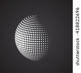 Halftone Sphere. Isolated...